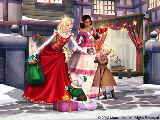 Fond d'écran Barbie et La Magie de Noël 1