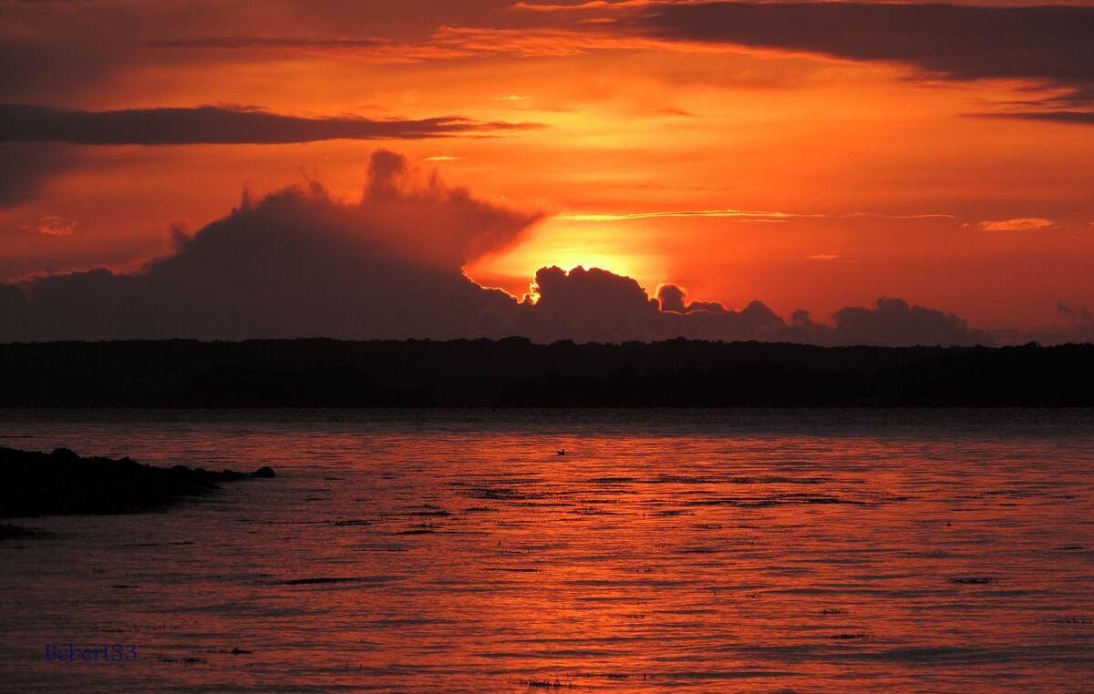 un coucher de soleil ...