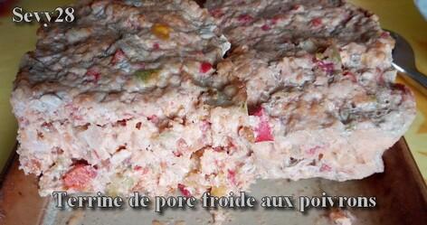 Terrine de porc froide aux poivrons (Thermomix)