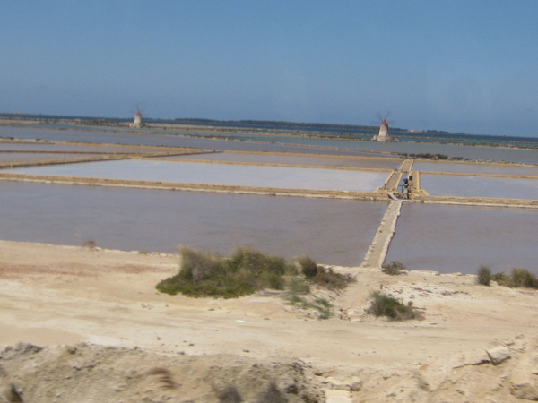 "La lagune de ""Lo Stagnone"""