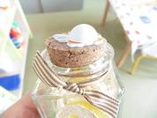 Pot de Pâques en verre avec bouchon liège