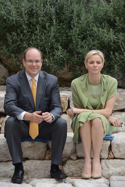 Charlène et Albert à La Turbie