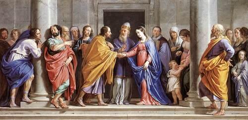 Philippe Champaigne , le mariage de la Vierge (1644).