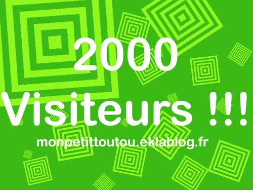 2000 visiteurs !