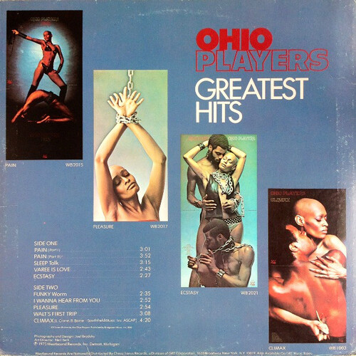 """Ohio Players : Album """" Ohio Players Greatest Hits """" Westbound Records WB 1500 [ US ]"""