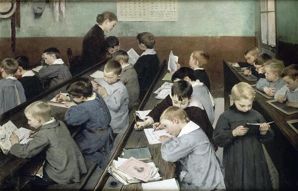 Mardi - L'école vue par les peintres
