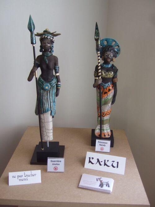 Mes mosaïques exposées à la bibliothèque Desrousseaux de Liévin en août