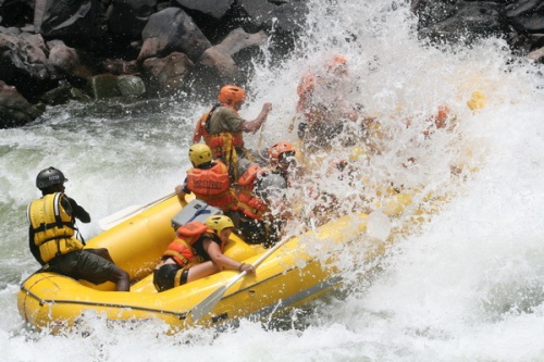 White water rafting on the mighty Zambezi