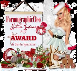 """Award di partecipazione iniziativa Natale insieme dal Forum: """"Cleographic"""""""