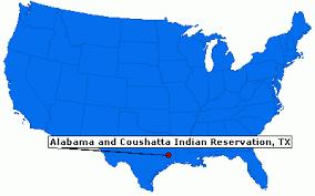 """Résultat de recherche d'images pour """"alabama and coushatta tribe reservation carte"""""""