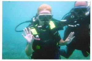Sous l'eau....