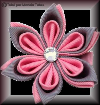 Tube fleur en tissus 2950