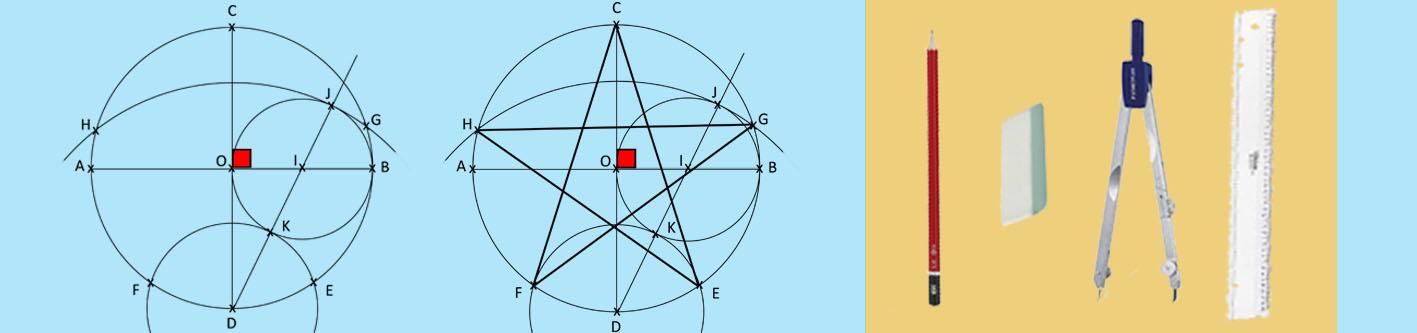 Géométrie, tracer une étoile...