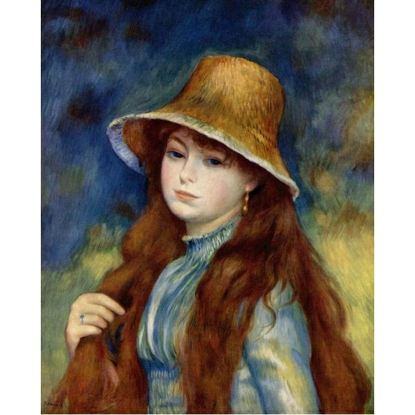 Renoir, jeune fille au chapeau
