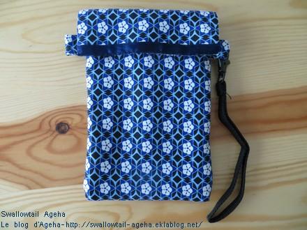 Pochette smartphone tissu