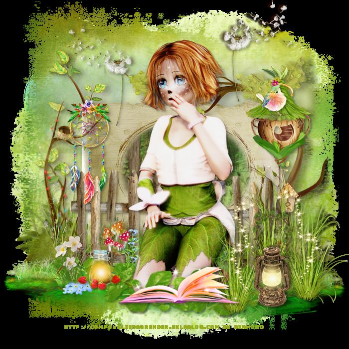 Creation avec le tube Shariu de Yolie sur le forum Douce Magie Créative