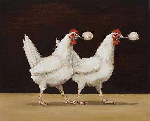 12 - Les poules - dans l'art