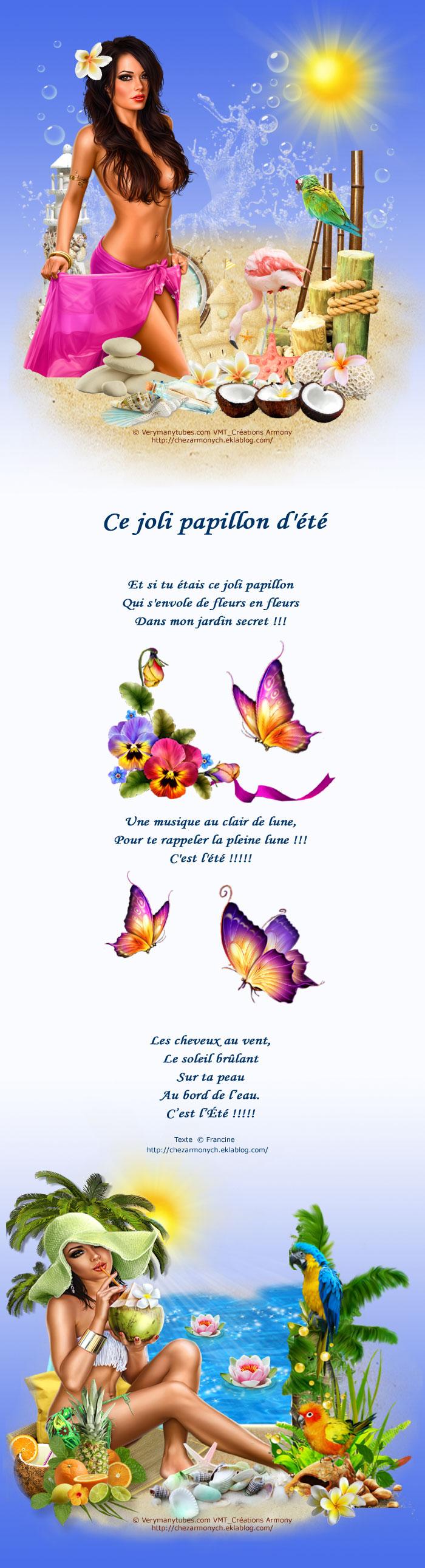 Poème: Ce joli papillon d'été