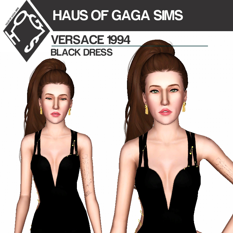 VERSACE 1994 BLACK DRESS