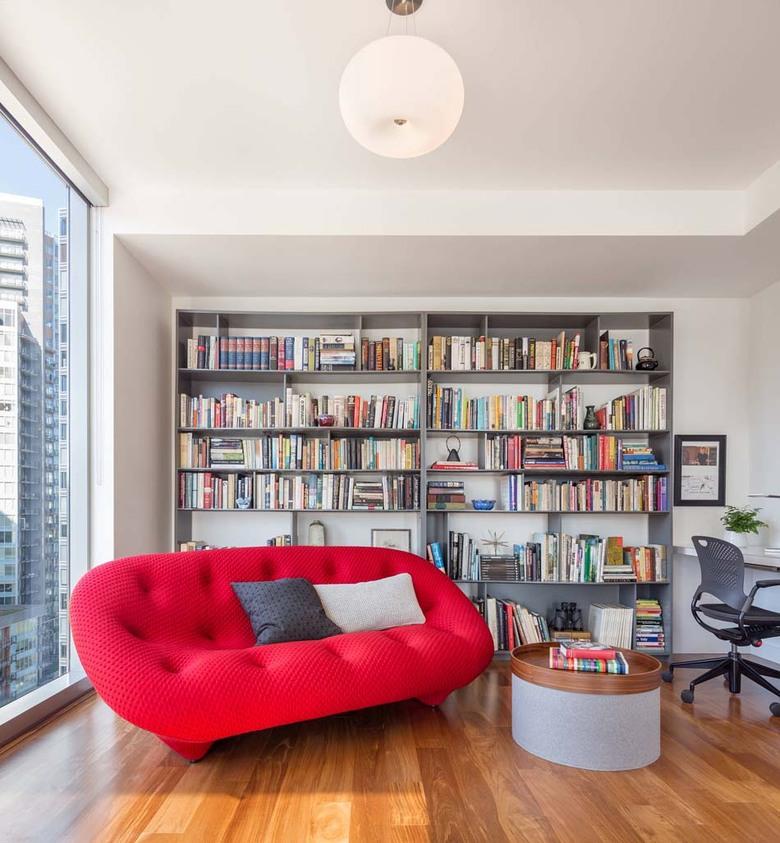 bureau espace lecture dédié détente à la maison