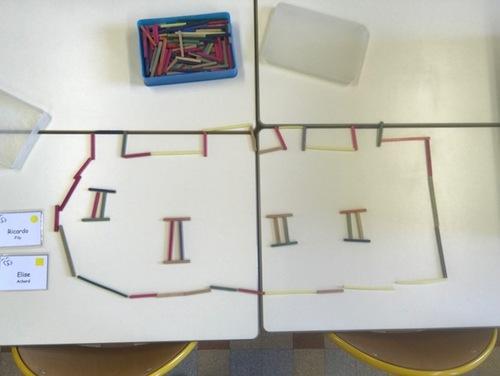 Graphisme Période 01 : Les châteaux forts (lignes verticales et horizontales) Suite