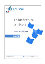 Littérature - Liste de référence cycle 2 - 2013