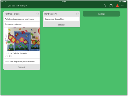 Trello, la gestion des listes virtuelles