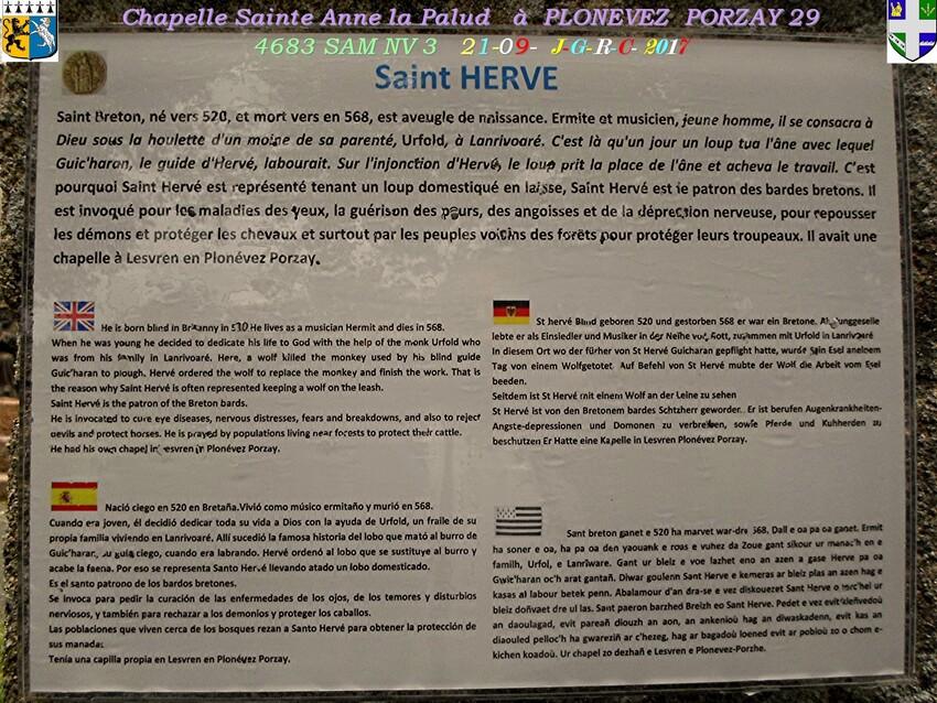 Chapelle  Sainte  ANNE  la  Palud  3/4  PLONEVEZ  PORZAY   29       D  14/030/2019