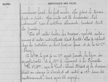 06*1914: Novembre du 21 au 23 - Réchicourt - Mort de Joris