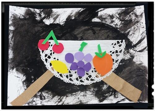 """Nature morte """"pêches et raisins"""" Chardin"""
