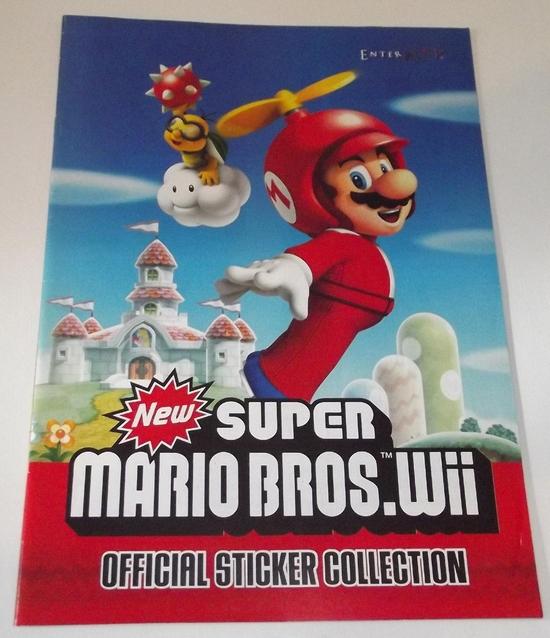 panini new super mario bros wii stickers 01