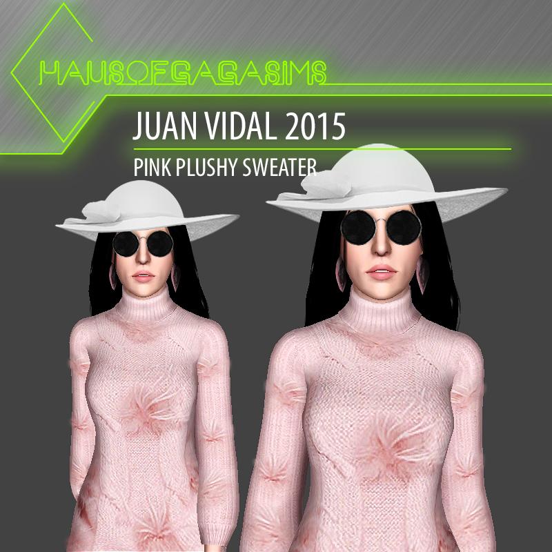 JUAN VIDAL 2015 PINK PLUSHY SWEATER