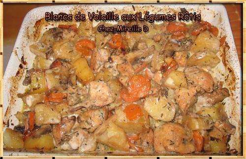 Blancs de Volaille aux Légumes Rôtis