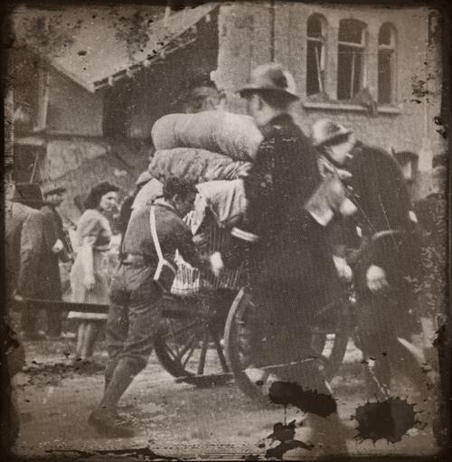 evacuation de villes en 1940