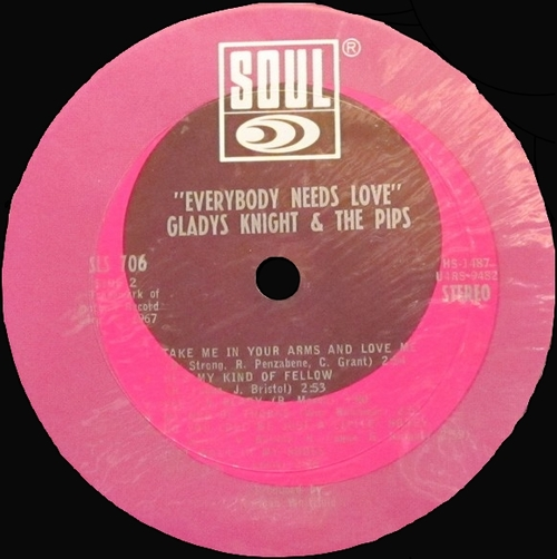 "Gladys Knight & The Pips : Album "" Everybody Needs Love "" Soul Records SS 706 [ US ]"