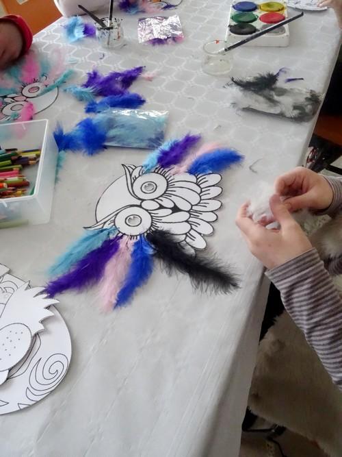 """Un atelier """"Masques"""" à la médiathèque de Laignes..."""
