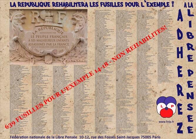 11 NOVEMVRE 2018: CHÂTEAU ARNOUX /JOURNEE PACIFISTE POUR UN 11 11 2018 PACIFISTE! Un monument dédié aux 639 fusillés pour l'exemple 14-18! REHABILITATION!