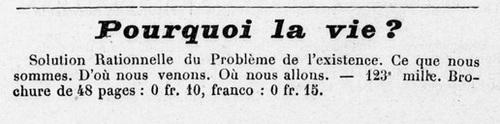 Henri Hollange - Pourquoi la vie ? (1906)