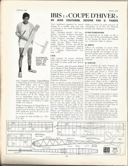 Planeur vintage I.BIS