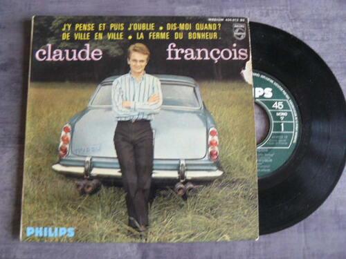 Claude François 45Tours J'Y Pense Et Puis J'Oublie photo fait par moi