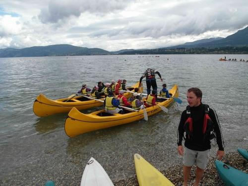 Canoé Kayak  sur le lac du Bourget pour les CE2 CM1 CM2 4/6/2012