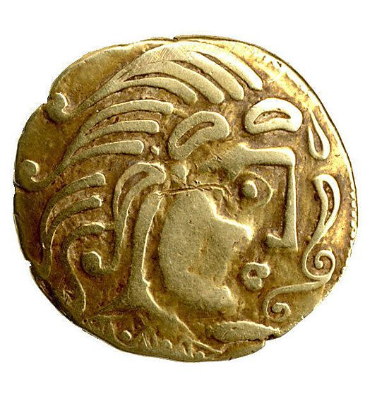 Gold Coin of the Parisii. 2nd century B.C. #Celtic: