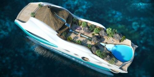Yacht île tropicale