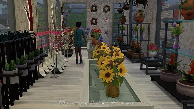 Jardinerie :Aux fleurs de Rose,  #sims4