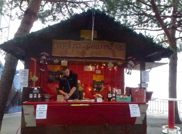 Un marché de Noël en suisse....