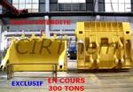 CHINE:  préparation d'une nouvelle pelle de 300 tonnes.