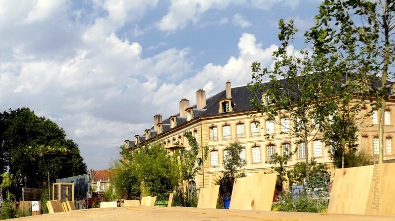 Metz place de la Comédie : un jardin éphémère