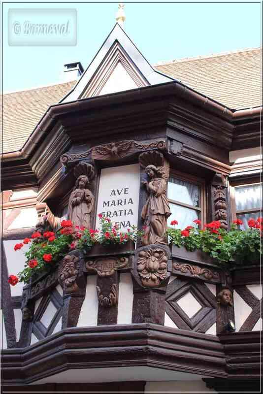 Alsace Haut-Rhin Route des Vins Ribeauvillé Auberge des Ménétriers