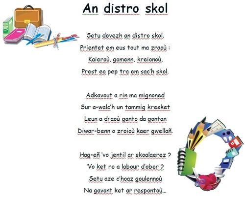 An distro-skol (poésie à apprendre)
