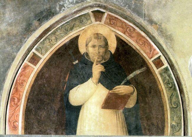 Saint Pierre martyr, fresque de Fra Angelico, 1441 (Couvent de Saint Marc. Florence. Italie).